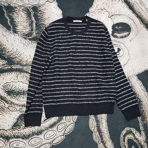 Vince black striped crew sweater L